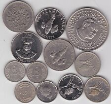 12 COINS FROM TONGA DATED 1967 TO 2002 IN VERY FINE OR BETTER CONDITION