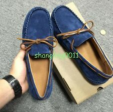 2017 Spring Mens Leather Casual Slip On Loafers Shoes Driving British Shoes New