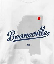 Booneville, Mississippi MS MAP Souvenir T Shirt All Sizes & Colors