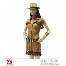 Ladies Womens Cowgirl Costume Outfit for Cowboy Wild West Fancy Dress