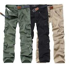 Combat Men's Military Camouflage pocket Cotton Cargo ARMY Pants Camo Trousers @@