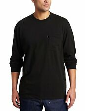 Key Apparel Men's Big-Tall Heavyweight Long Sleeve Pocket T-Shirt, Black,...