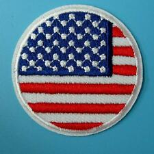 USA America Flag Iron on Sew Patch Applique Badge Embroidered Biker Applique Lot