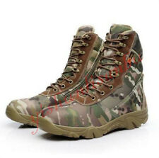 Mens Camo Army Force Military Tactical Combat Lace Up Desert Boots outdoor work