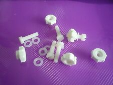 10 Pack M4 M5 M6 NYLON Cheese Head Bolts +THUMBNUTS (COARSE with Collar)+Washers