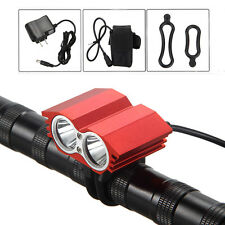 5000LM 2x XML T6 LED Head Bicycle Light Headlight 6400mAh Battery Pack+Taillight