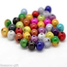 Wholesale Lots HX Mixed Miracle Acrylic Round Spacer Beads 8mm