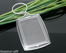 Wholesale Lots HX Key Chains&Key Rings W/Transparent Picture Frames