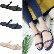 Women Jelly Casual Sandals Hollow Out Open toe Non-slip Beach Shoes Slippers G