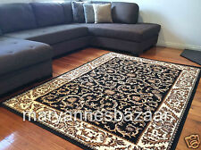Extra Large Floor Rug Black Traditional FREE DELIVERY TO ANYWHERE IN AUSTRALIA