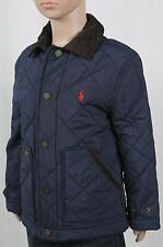 Polo Ralph Lauren Navy Blue Quilted Coat Jacket Corduroy NWT $115