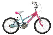 "Ammaco Misty Girls 16"" BMX Kids Bike Pink & Baby Blue Single Speed Age 5+"