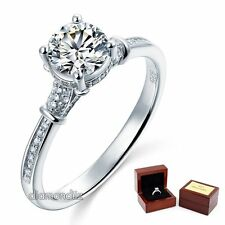 1 Carat Lab Made Diamond Sterling 925 Silver Wedding Engagement Promise Ring