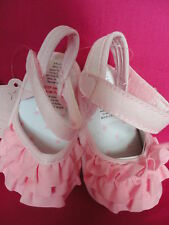 BABY GIRLS PINK FRILL SHOES - NEW - SIZES 0-6  6-12  MONTHS