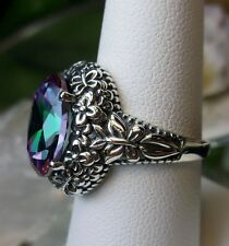 5ct *Mystic Topaz* Sterling Silver Butterfly Floral Filigree Ring Size: ({MTO})