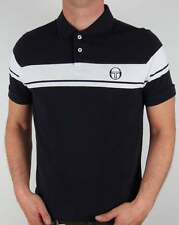 Sergio Tacchini Young Line Polo Shirt in Navy & White - pique 80s casual McEnroe