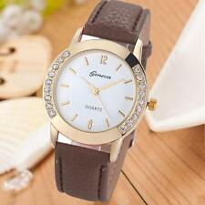 Women Fashion Geneva Diamond Analog Leather Quartz vintage Wrist Watch Watches