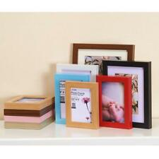 Solid Wood Effect Hanging Album Photo Frame Wall Picture Family Display 6''