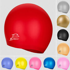 new Adults kids Silicone Swimming Cap Swim Hat Unisex Durable Elasticity Sports