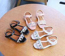 Fashion Kids Girls Causal Beach Flat Infant Party Sandals Shoes NXF420-2