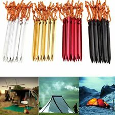 4~8x Aluminum Alloy Outdoor Camping Tent Peg Ground Nail Triangular Stakes 18cm