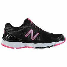 New Balance W680v4 Running Shoes Womens Black/Pink Trainers Sneakers Sports Shoe
