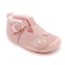 Start-rite Girls Mayflower Pink Nubuk Pre-Walker