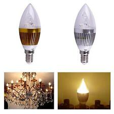 Newest E14 3W Warm White Dimmable LED Light Bulb Lamp 85-265V Candle Spotlight