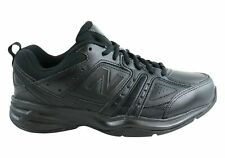 NEW NEW BALANCE MENS MX409BK2 LEATHER BLACK CROSS TRAINING SHOES (2E WIDE) WIDTH