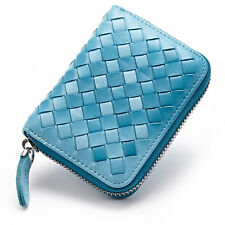 New Men's Women's Real Genuine Leather Cards Bag Cases ID Card Holder Wallet