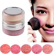 NEW Natural 3D Pure Mineral Cheek Blush Blusher Powder Cosmetic With Sponge LG