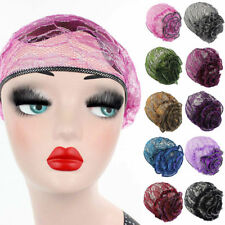 Women Lace Muslim Indian Stretch Turban Hat Bonnet Headwrap Chemo Cap Head Scarf
