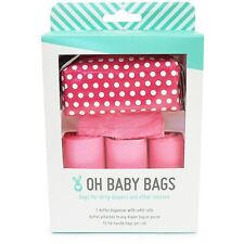 Oh Baby Bags Diaper Bag Clip-On Dispenser Gift Box with Scented Disposable Bags
