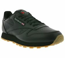 NEW Reebok Classic CL Leather Shoes Men's Sneakers Trainers Black 49800