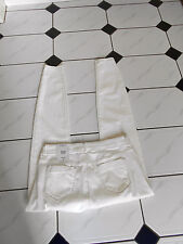 LADIES NEW  RIPPED SKINNY FIT  ECRU  COLOUR  JEANS SIZE 12  FAB FABRIC MIX!