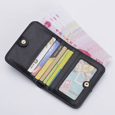 Fashion Women Short Wallet Genuine Leather Hasp Purse Student Small Card Bag