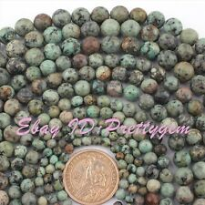 "Nautral Round Faceted Multicolor Africa Turquoise Gemstone Beads 15""4,6,8,10mm"