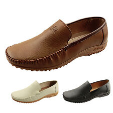 Mens Authentic leather Shoes slip Loafers Soft Classic boat Size 5-9 Casual TATA