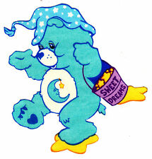 """5""""-8.5"""" CARE BEARS BEDTIME BEAR  CHARACTER WALL SAFE STICKER BORDER CUT OUT"""
