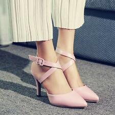 Hot Pointy toe buckle strap Womens dress sandals OL Heels stiletto court shoes Y