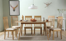 Suffolk Oval Oak Dining Room Table & 4 6 Oxford Chairs Set (Ivory)