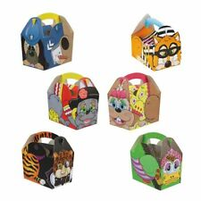Childrens Kids Creature Birthday Party Box Bag Loot Favour Carry Boxes Food