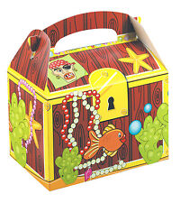 Childrens Kids Treasure Chest Birthday Party Box Bag Loot Favour Carry Boxes