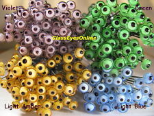 8 PAIR 4mm  to 7mm Glass Eyes on Wire Fish Lure, Carving, Decoy, Teddy Bear LE-1