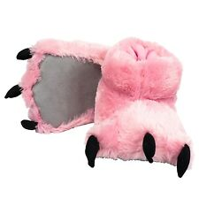 Lazy One Pink Bear Paw Super Soft Slippers Adult & Kids House Shoes