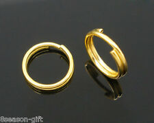 Wholesale Lots Gold Plated Double Loop Split Open Jump Rings 8mm