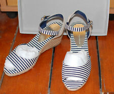 M&S Collection wedge espadrilles Blue & White striped Size 5 New