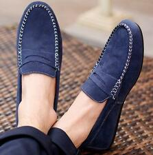 Comfortable suede leather Mens Casual slip on loafer moccasins driving shoes NYB