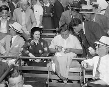 Babe Ruth autographs baseball at All-Star game at Griffith Stadium Photo Print