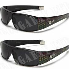 Locs New Mens Womens Designer Biker Wrap UV400 Fashion Black Sunglasses LC50